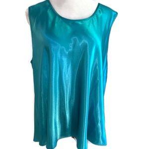 NWT Serenada Turquoise Sleeveless Top Sz 2X